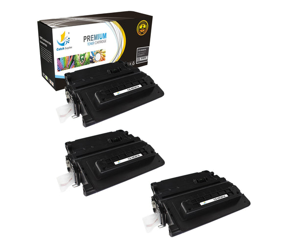 Catch Supplies Replacement CF281A Black Toner Cartridge 3 Pack