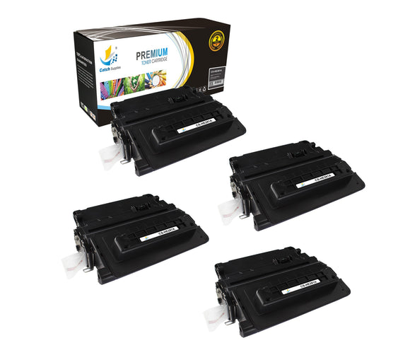 Catch Supplies Replacement CF281A Black Toner Cartridge 4 Pack