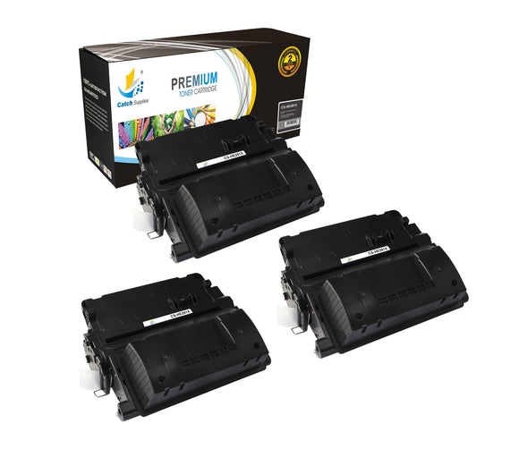Catch Supplies Replacement CF281X Black Toner Cartridge 3 Pack