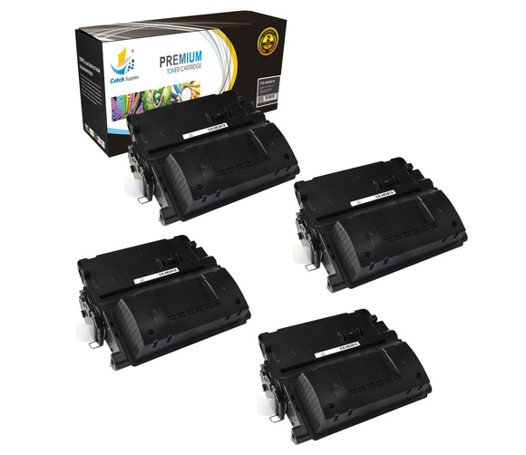 Catch Supplies Replacement HP CF281X High Yield Black Toner Cartridge Laser Printer Toner Cartridges - Four Pack