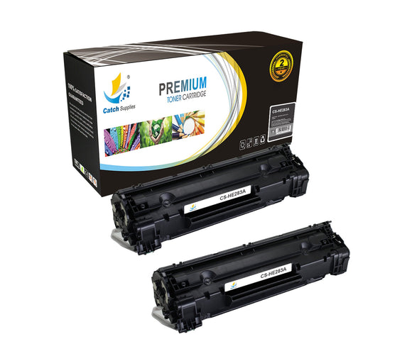 Catch Supplies Replacement CF283A Black Toner Cartridge 2 Pack