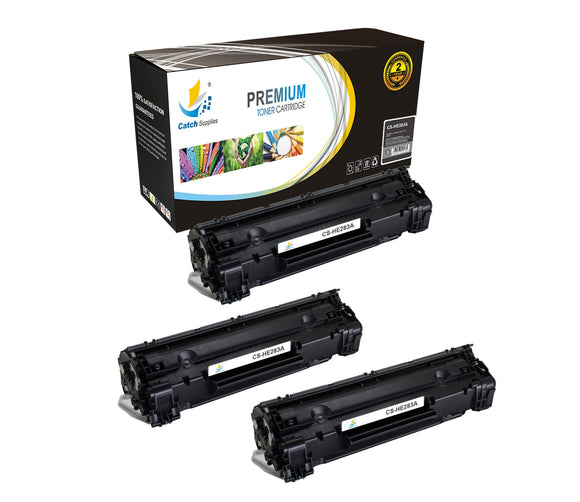 Catch Supplies Replacement CF283A Black Toner Cartridge 3 Pack