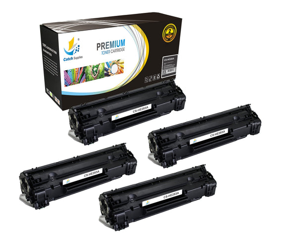 Catch Supplies Replacement CF283A Black Toner Cartridge 4 Pack