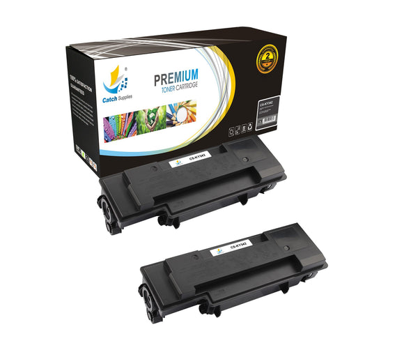 Catch Supplies Replacement Kyocera TK-342 Standard Yield Laser Printer Toner Cartridges - Two Pack