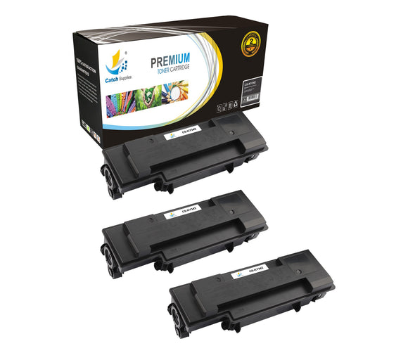 Catch Supplies Replacement Kyocera TK-342 Standard Yield Laser Printer Toner Cartridges - Three Pack