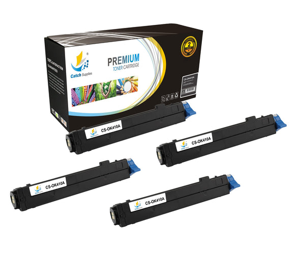 Catch Supplies Replacement B410 Black Toner Cartridge 4 Pack