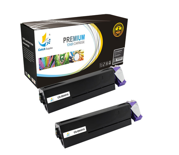 Catch Supplies Replacement B431 Black Toner Cartridge 2 Pack