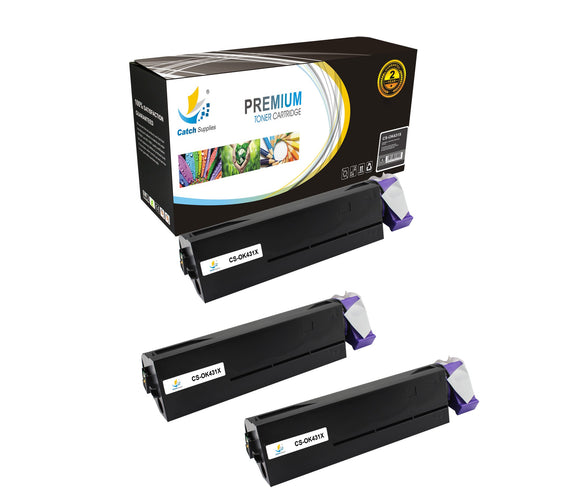 Catch Supplies Replacement B431 Black Toner Cartridge 3 Pack