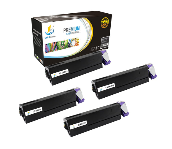 Catch Supplies Replacement B431 Black Toner Cartridge 4 Pack