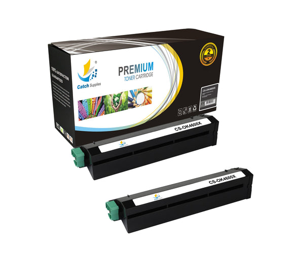 Catch Supplies Replacement B4600 Black Toner Cartridge 2 Pack