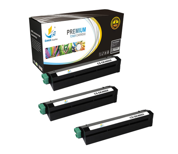 Catch Supplies Replacement B4600 Black Toner Cartridge 3 Pack