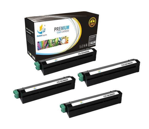 Catch Supplies Replacement B4600 Black Toner Cartridge 4 Pack