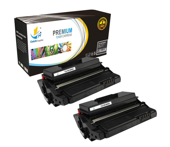 Catch Supplies Replacement Xerox 106R01371 Standard Yield Laser Printer Toner Cartridges - Two Pack