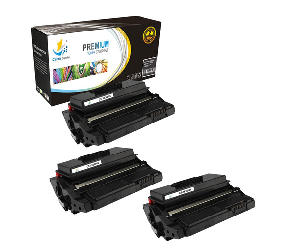 Catch Supplies Replacement 3600 ( 106R01371 ) Black Toner Cartridge 3 Pack