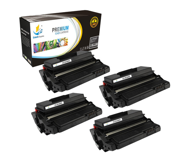 Catch Supplies Replacement 3600 ( 106R01371 ) Black Toner Cartridge 4 Pack