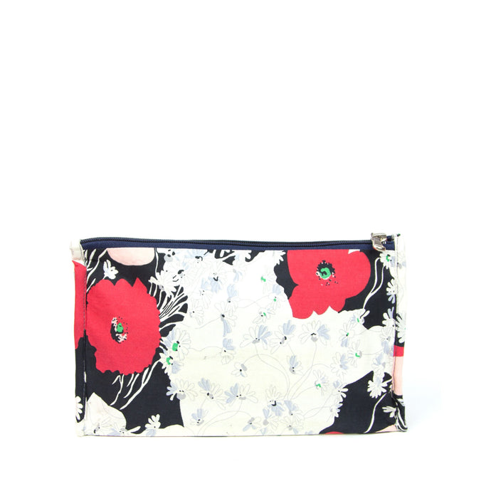 Japanese Poppy - Make up bag (sm)