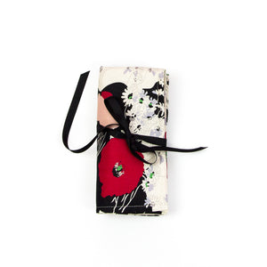 Japanese Poppy - Small Brush Wrap (6 Pockets)
