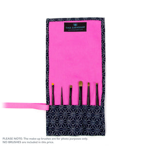 Japanese Stars - Small Brush Wrap (6 Pockets)