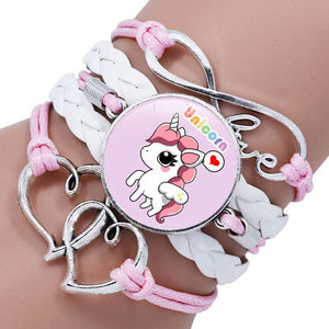 Pink Unicorn Friendship Bracelet