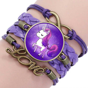 Purple Unicorn Friendship Bracelet