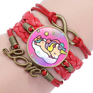 Red Unicorn Friendship Bracelet