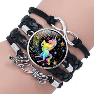 Black Unicorn Friendship Bracelet