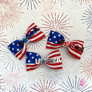 4th of July Celebrations Mini Hair Bow