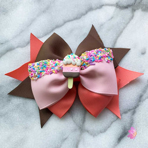 Ice Cream Popsicle Hair Bow