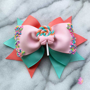 Sweet Lollipop Hair Bow