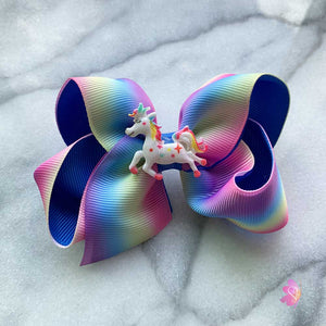Unicorn Rainbow Hair Bow