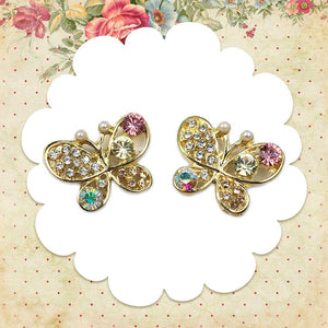 Butterfly Gem Earrings