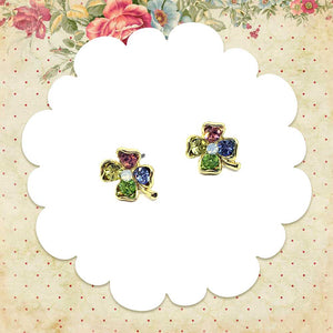 Lucky Clover Earrings, Jewelry, sweetbiie