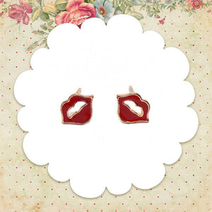 Red Lips Earrings, Jewelry, sweetbiie