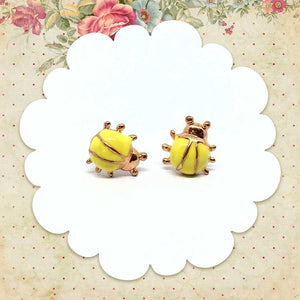 Yellow Ladybug Earrings