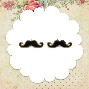 Black Mustache Earrings