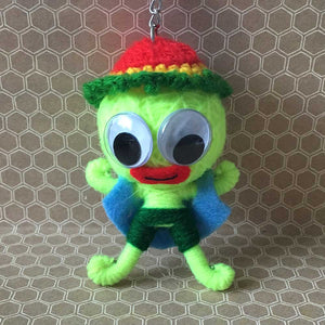 Green Boy String Doll Keychain