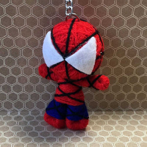 Spider Boy String Doll Keychain