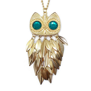Charming Owl Long Necklace