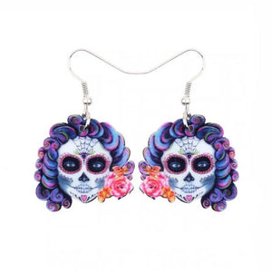 Miss Skeleton Drop Earrings, Jewelry, sweetbiie