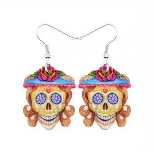 Miss Skeleton Drop Earrings