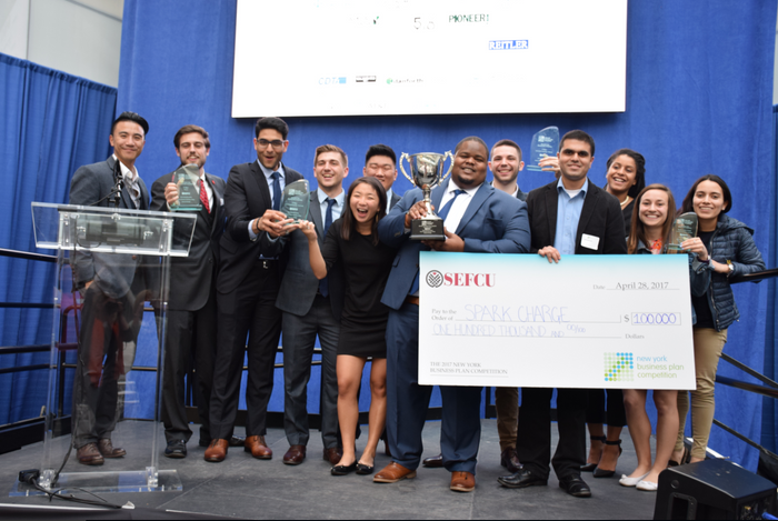 SparkCharge wins grand prize at NYS Business Plan Competition
