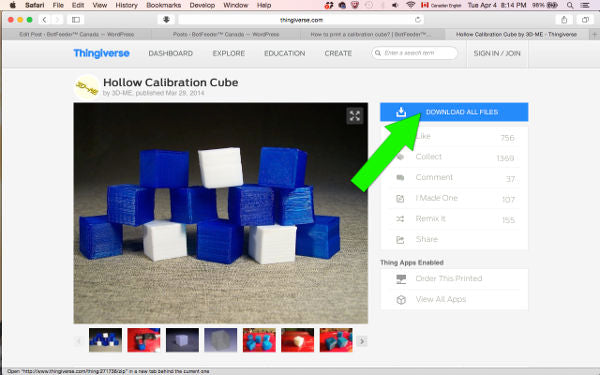 Thingiverse: download hollow calibration cube