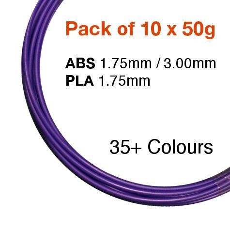 Pack of 10 x 50g of BotFeeder ABS / PLA Filament