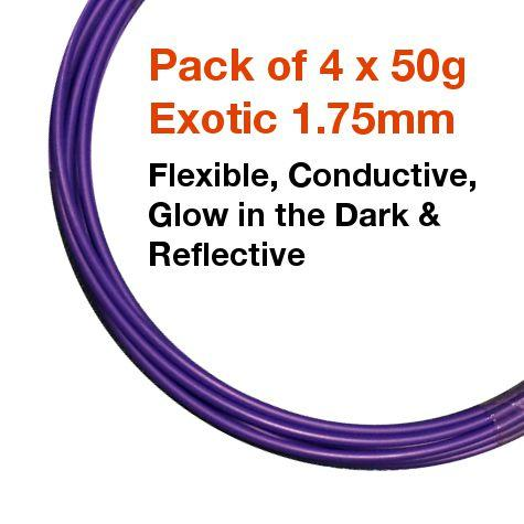Pack of 4 x 50g of BotFeeder Exotic 1.75mm Filament