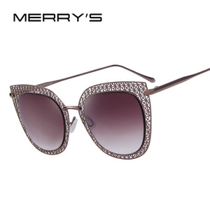 Women Cat Eye Sunglasses Women Classic Carving Alloy Frame Light-weight UV400 6 Colours