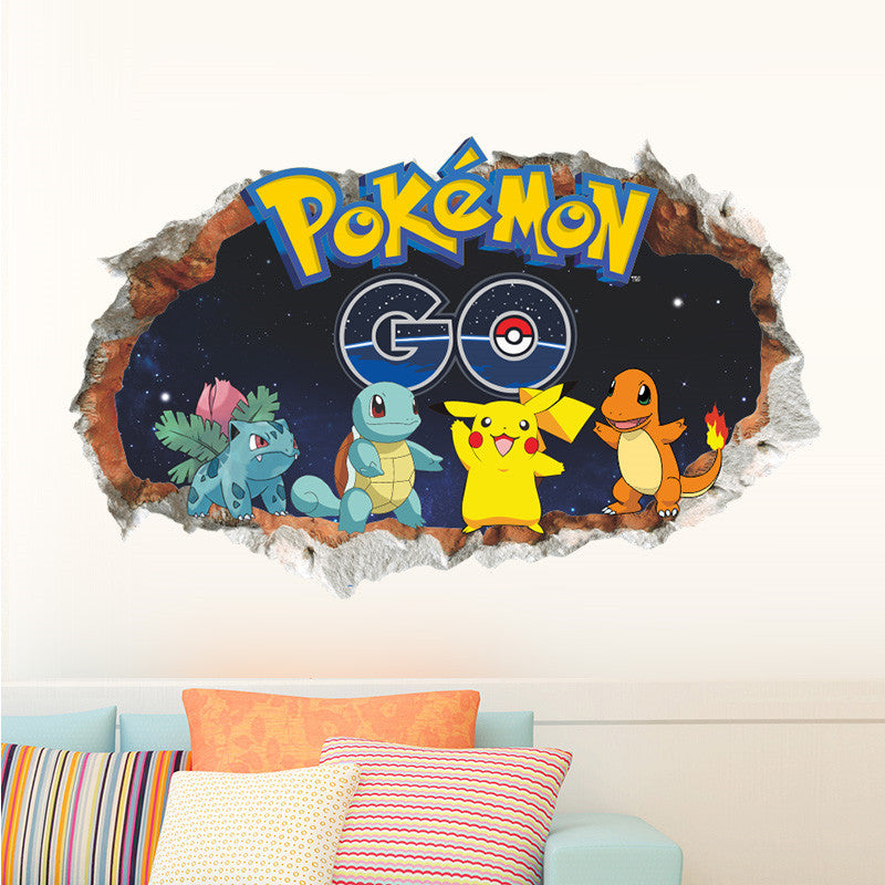 Cartoon Games Pokemon Go Wall Stickers