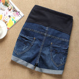 Denim Maternity Elastic Waist Shorts