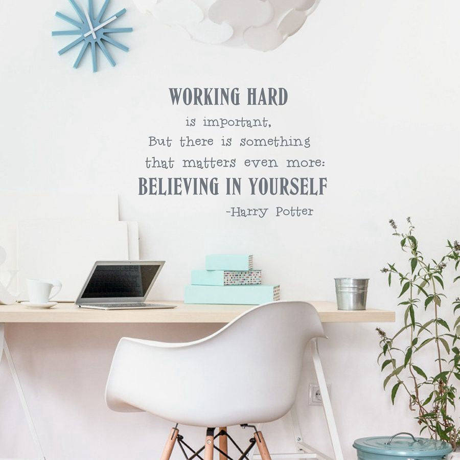 Believe in yourself Wall Art Sticker Harry Potter Quotes