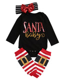 3pcs Set Girls Long Sleeve Romper + Leg Warmers + Headband