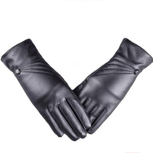 Winter Super Warm Gloves Women Leather Cashmere Gloves